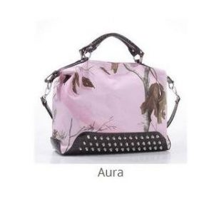 Concealed Carry Purse, Real Tree, Pink Brown, Aura