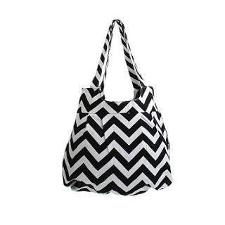 Chevron Print Tote Bag