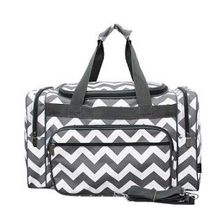 Chevron Print Duffle Bag