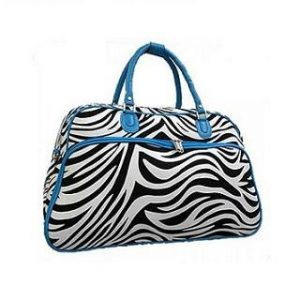 Travel Bag, Zebra Print