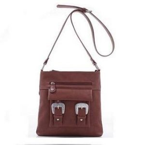 Concealed Carry Purse, Crossbody, Roxie, Dk Brown